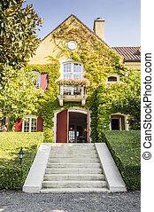 romanticos, pequeno, winery, casa, em, califórnia