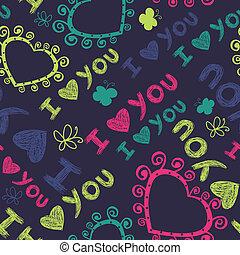 romanticos, seamless, padrão, com, corações