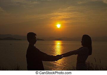 romantik, dále, soumrak