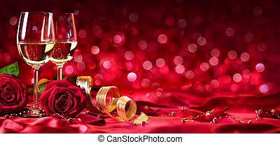romantik, oslava, o, znejmilejší