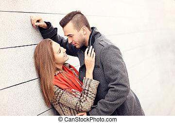 romantiker koppla, ona, datera
