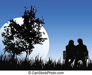 romantikus, éjszaka