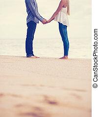 romantikus összekapcsol, a parton