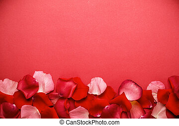 romantikus, border., szirom, agancsrózsák, háttér, ásványvízforrás, vagy, piros