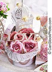 romantikus, esküvő, mód, valentines, dekoráció, nap, vagy, szüret
