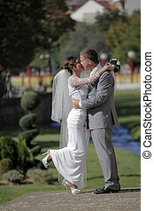 romantikus, menyasszony inas