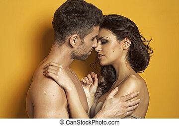 romantikus, színhely, közül, a, csókolózás, párosít