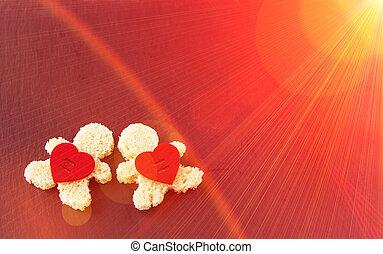 romantique, arrière-plan., carte postale, pour, valentine, day., tour eiffel