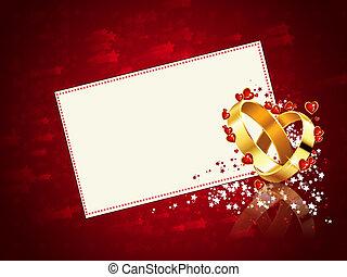 romantique, carte, mariage