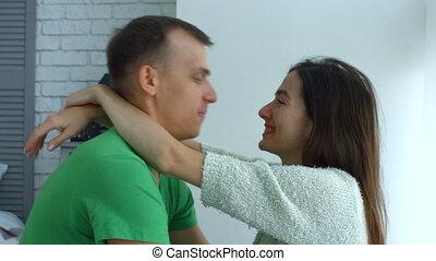 romantique coupler, autre, chaque, apprécier, compagnie