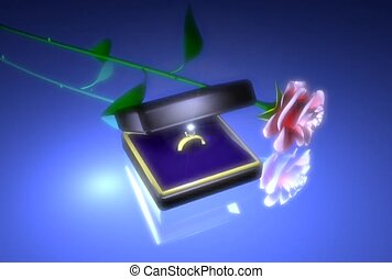 romantique, mariage, proposition