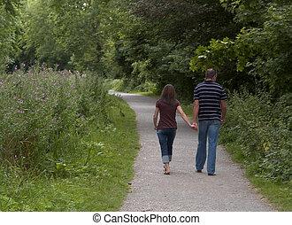romantique, promenade