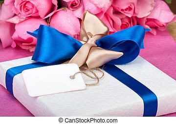 romantique, valentin, présent, à, note
