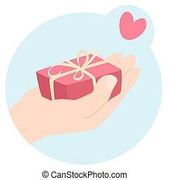 romantique, valentines, cadeau