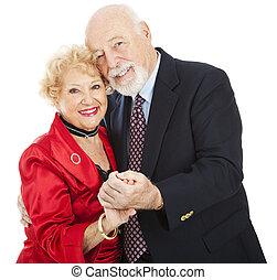 romantische, dans, senior
