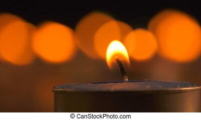 romantische , kerze licht, hintergrund, ansicht