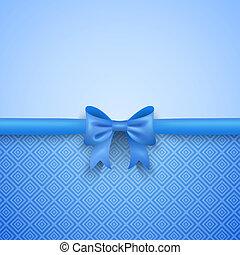 romantische, model, achtergrond, boog, blauwe , schattig