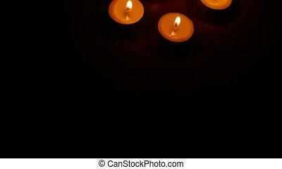 romantische, nacht, branden, kaarsjes, scented,...