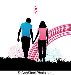 romantische , spaziergang