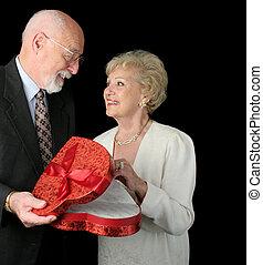 romantyk, valentine, seniorzy