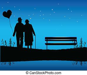 romantyk, wieczorny