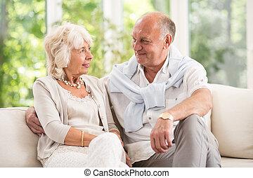 romanze, alter, altes , haben