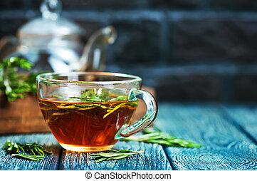 romarin, thé