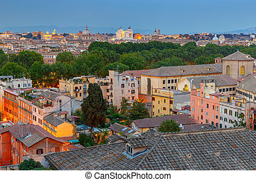 Rome. Aerial view of the city. - Aerial view of Rome from ...