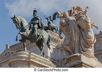Altar of the Fatherland, Altare della Patria . National monument Vitorio Emmanuel II on Plaza Venezia.