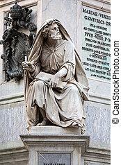 Rome - Biblical Statues at Base of Colonna dell'Imacolata
