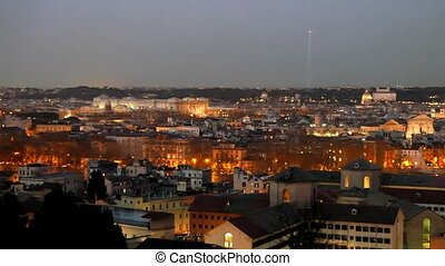 Rome by night. Italy. UltraHD (4K)