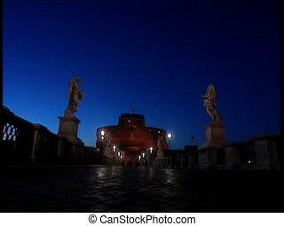 ROME CASTELSANTANGELO at dusk LS