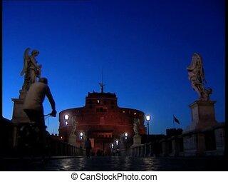 ROME CASTELSANTANGELO at dusk