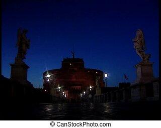ROME CASTELSANTANGELO at evening
