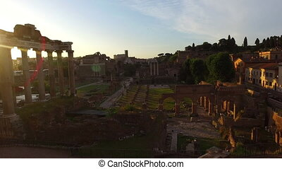 Rome city bu sunrise Italy - Roman Forum. Image of Roman...