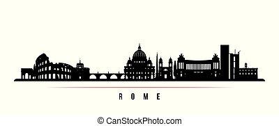 Rome city skyline horizontal banner.
