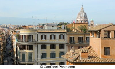 Rome city view from Spanish Steps