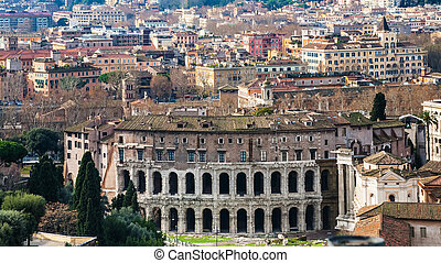 Rome city with ancient Theatre of Marcellus - Travel to...