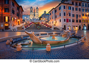 Rome. - Cityscape image of Spanish Steps in Rome, Italy...