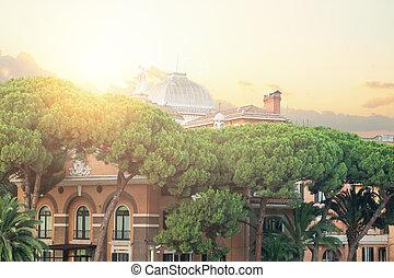 Rome cityscape, Italy. Rome landmark
