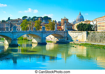 Rome cityscape, Italy