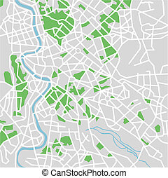 Rome  - vector map of Rome