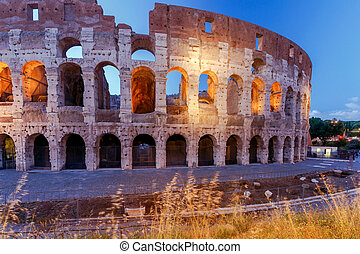 Rome. Coliseum at sunset.