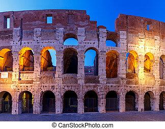Rome. Coliseum at sunset.