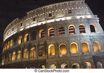 Rome Coliseum in the night
