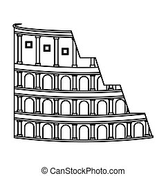 rome coliseum isolated icon