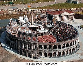 Rome Coliseum Italy in miniature