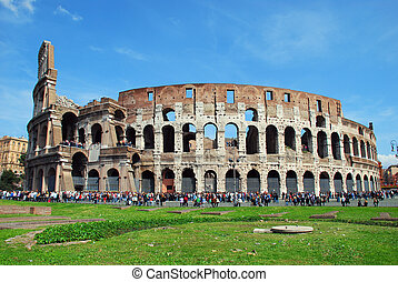 Rome - Colosseo - The Colosseum or Coliseum, originally the...