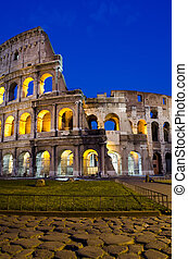 Rome - Colosseum at dusk