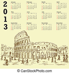 rome colosseum vintage 2013 calenda